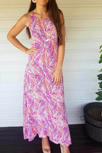Cabana Maxi Dress - Botanical, dress Australian Ethical Clothing Label Rare Muse