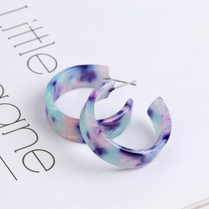 Resin Hoop Earring - Pastel, earring Australian Ethical Clothing Label Rare Muse