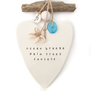 Wall Hanging 'ocean breeze palm trees sunsets', Wall Hanging Australian Ethical Clothing Label Rare Muse