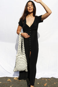 Jessica Maxi Dress- Black, dress Australian Ethical Clothing Label Rare Muse