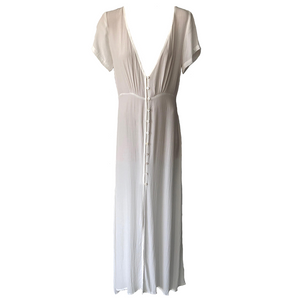Jessica Maxi Dress- White, dress Australian Ethical Clothing Label Rare Muse