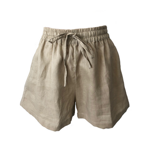 San Diego Short- Natural Linen, shorts Australian Ethical Clothing Label Rare Muse