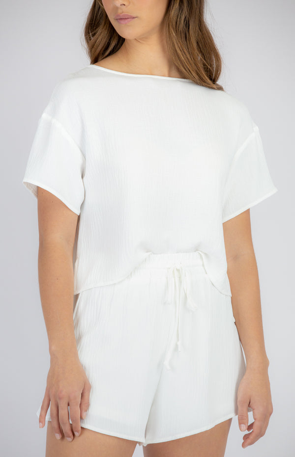 Betty Lounge Top- White