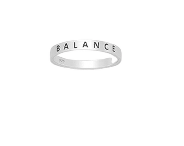 'BALANCE' Sterling Silver Ring