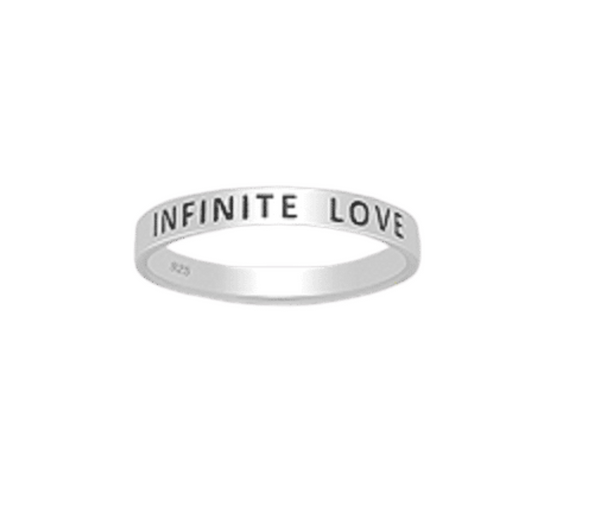 'INFINITE LOVE' Sterling Silver Ring
