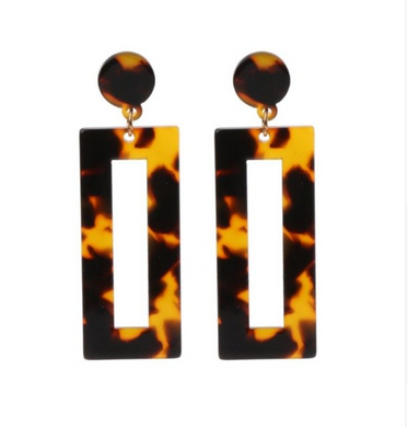 Rectangle Resin Earring, earring Australian Ethical Clothing Label Rare Muse