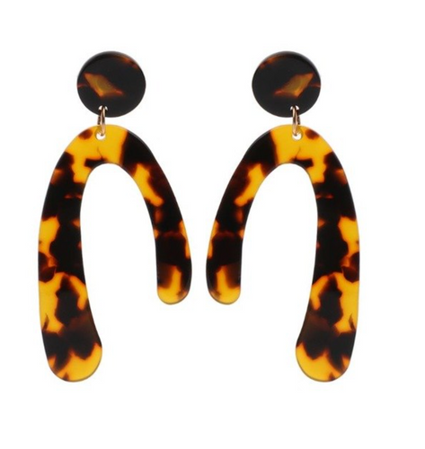 Curved Resin Earring, earring Australian Ethical Clothing Label Rare Muse