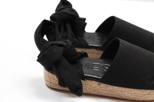 James Smith - 'The Wrap' Denim Espadrille, Shoe Australian Ethical Clothing Label Rare Muse