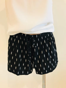 TILLY SHORTS - BLACK & WHITE PRINT, shorts Australian Ethical Clothing Label Rare Muse
