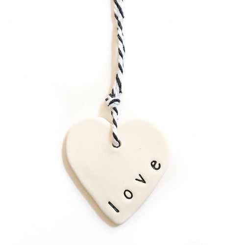 Tag small heart 'love', Gift Tag Australian Ethical Clothing Label Rare Muse