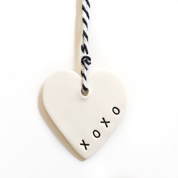 Tag small heart 'xoxo', Gift Tag Australian Ethical Clothing Label Rare Muse
