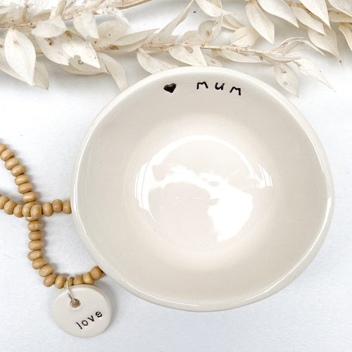 'mum' Cream Little Bowl