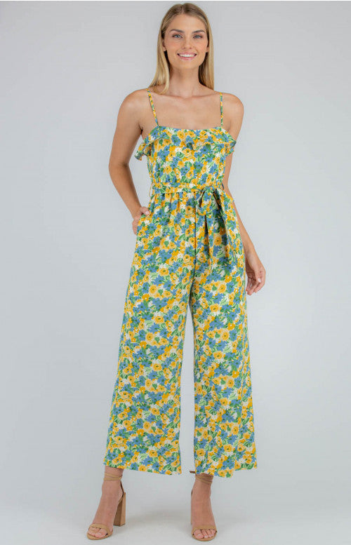 Cartel Frill Neck Jumpsuit