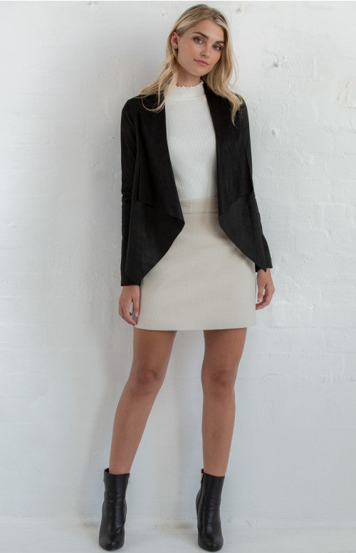 Waterfall Blazer- Black