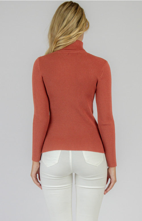 Ribbed Delilah Knit - Cherry