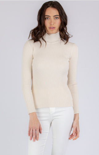 Ribbed Delilah Knit - Cream