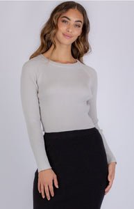 Evie Knit Top- Grey