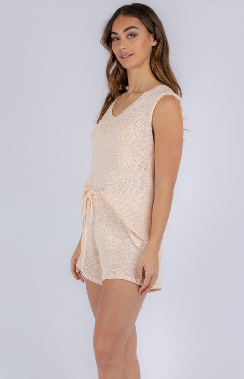 St Barts Knit Lounge Top - Soft Pink