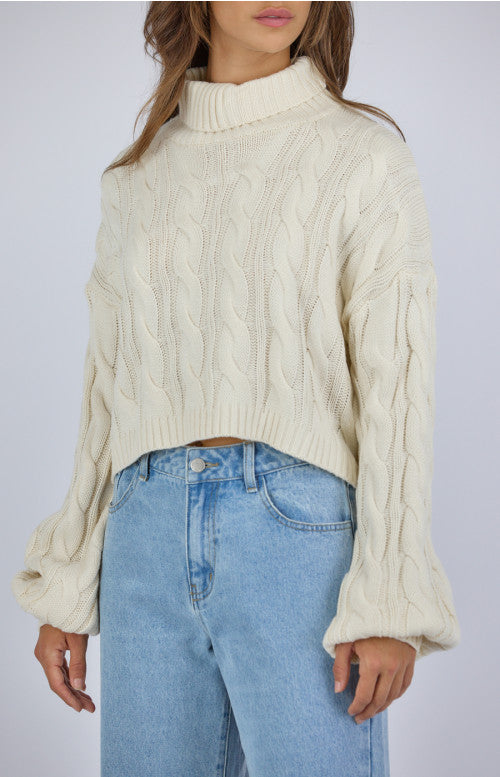Coco Cable Knit - Latte