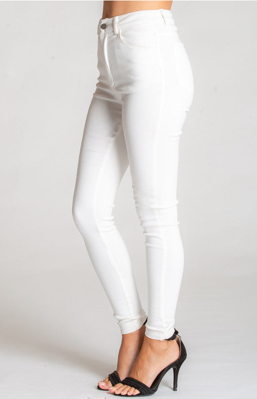 Stretch Skinny Jeans - White