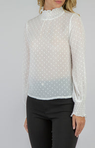3D TEXTURED TOP- CREAM