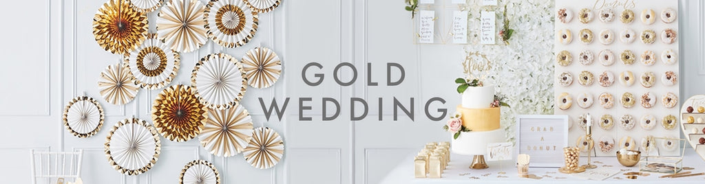 Wedding post box - GOLD WEDDING