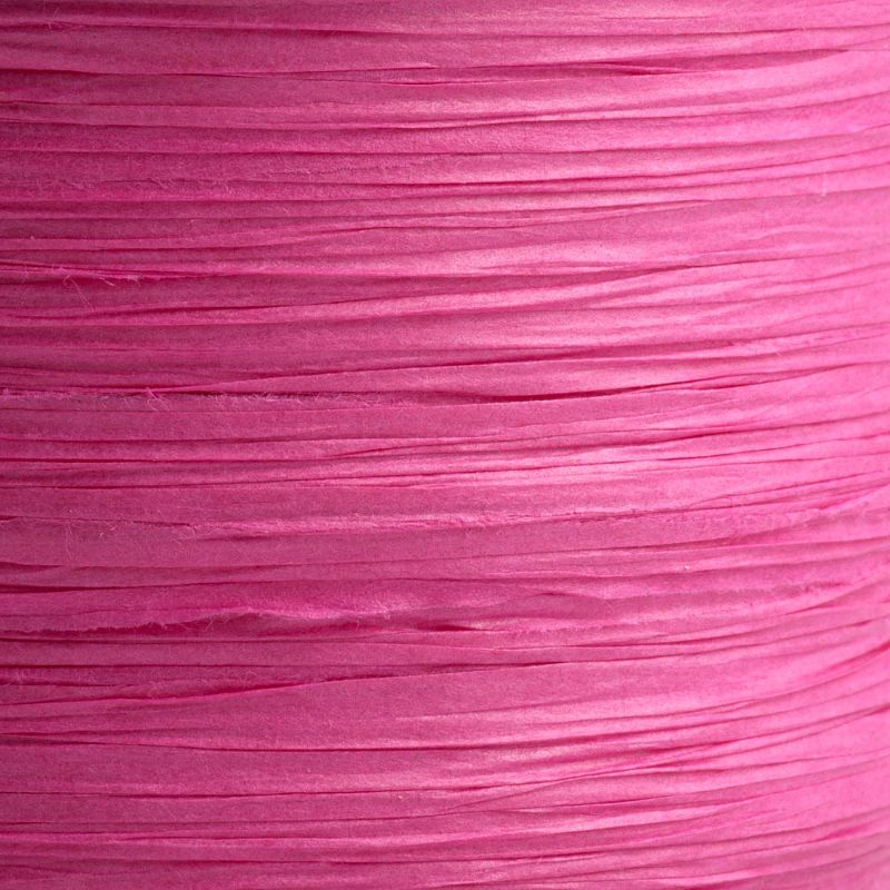 Hot Pink Paper Raffia Ribbon