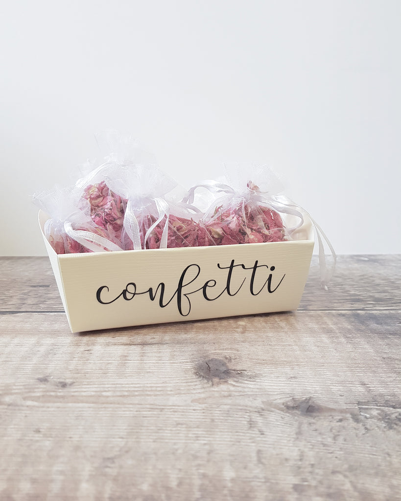 Mini confetti tray - empty