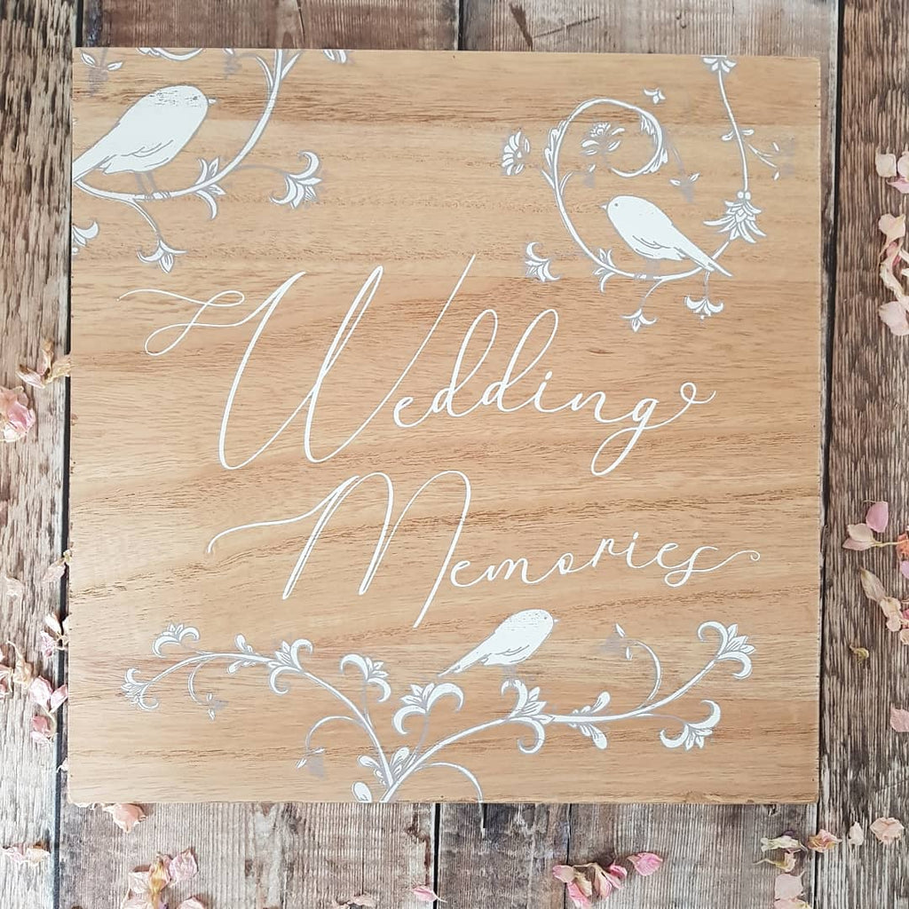Wedding Wooden Memory box  - Rustic wedding
