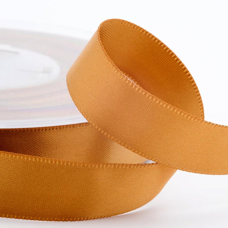 Antique Gold Satin Ribbon