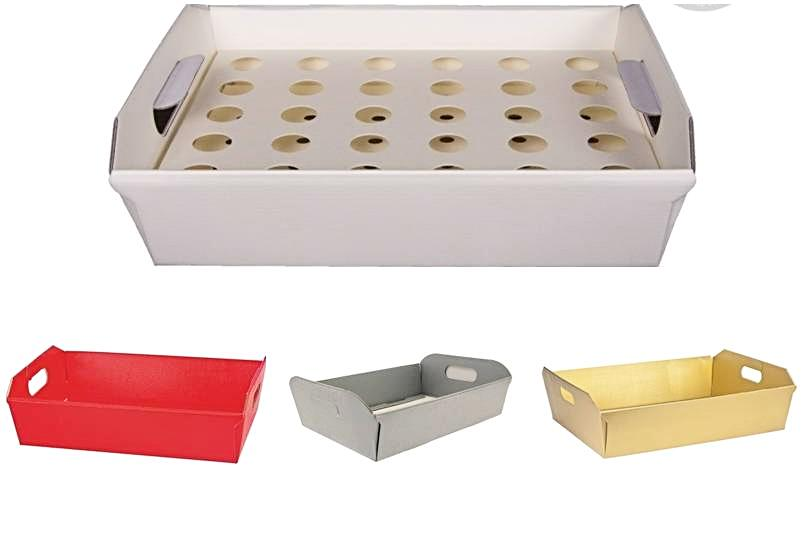 CONFETTI CONES TRAY - Gold, Silver, Ivory, White, Red