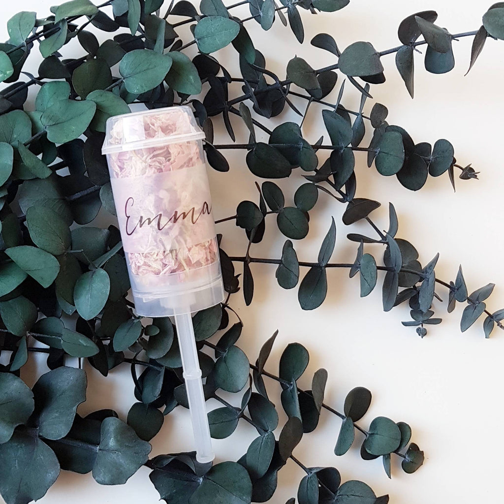 FLOWER GIRL- BRIDESMAID PUSH POP CONFETTI WAND