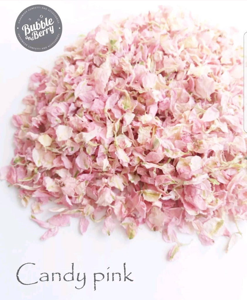 Wedding Confetti Throwing Toss bag/ Natural Petal Confetti/ Candy light , Blush, Raspbery pink, blue, ivory, purple
