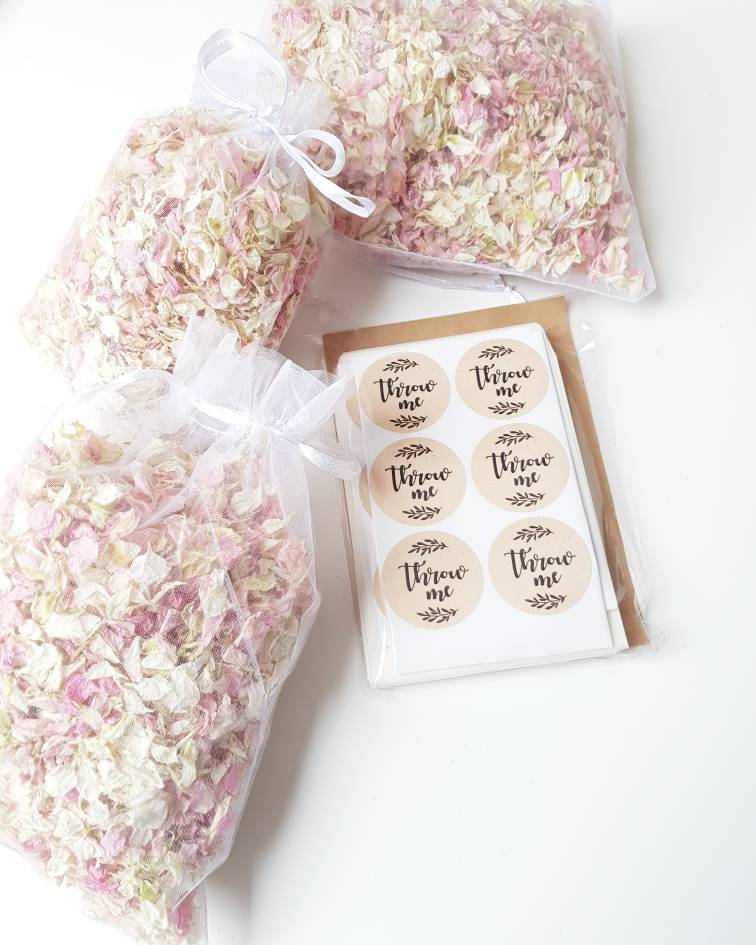 DIY WEDDING CONFETTI PACK - Pink , White, Burgundy