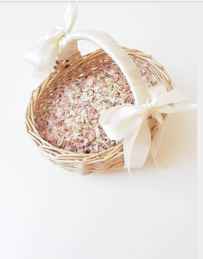 FLOWER GIRL FLOWER PETAL BASKET