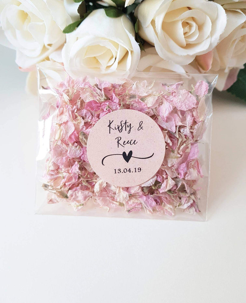 Personalised Wedding Confetti Pack
