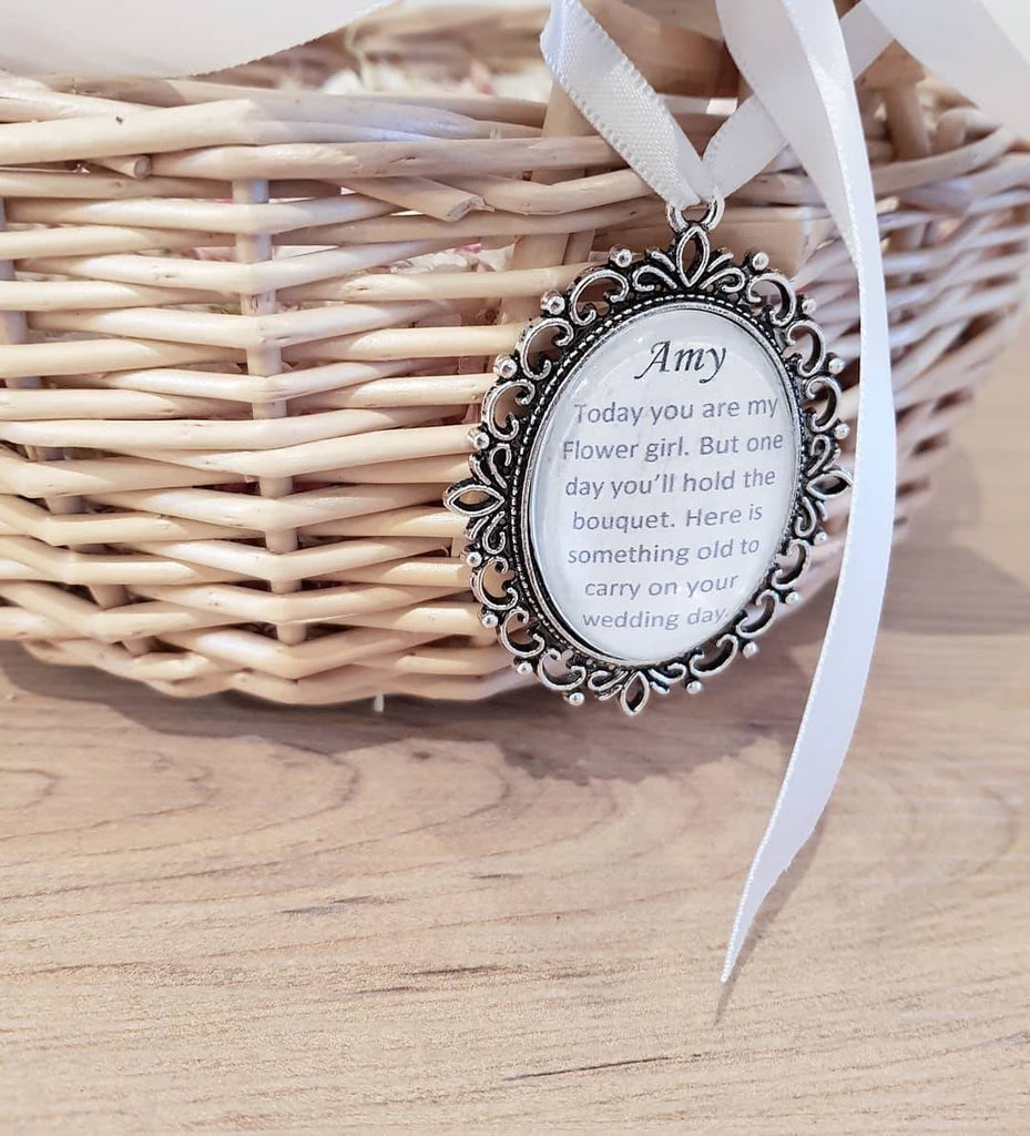 Keepshake Bouquet Charm for Flowergirls and Bridesmaids