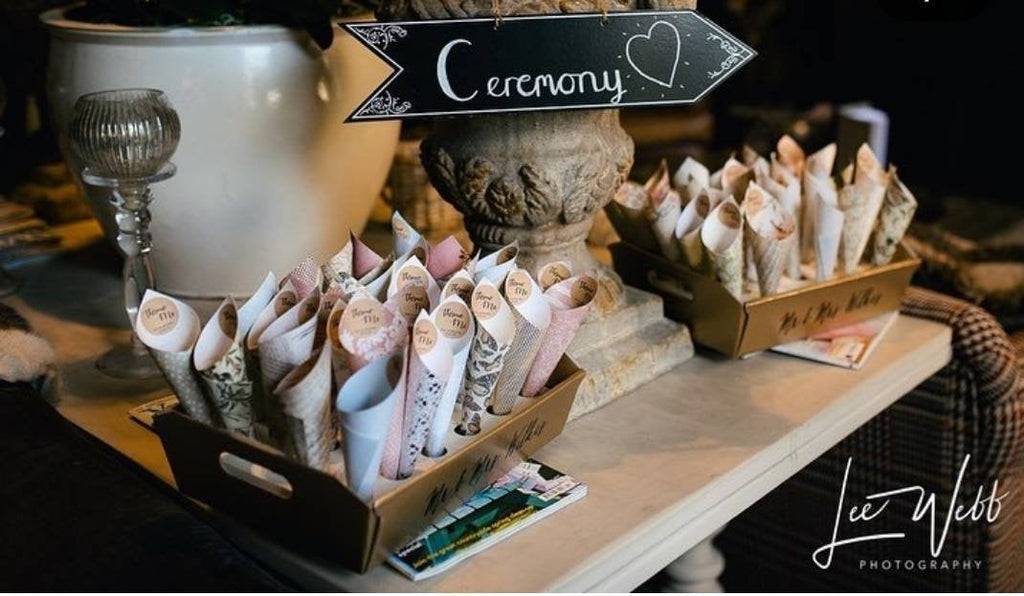 Personalised Confetti Cones Tray