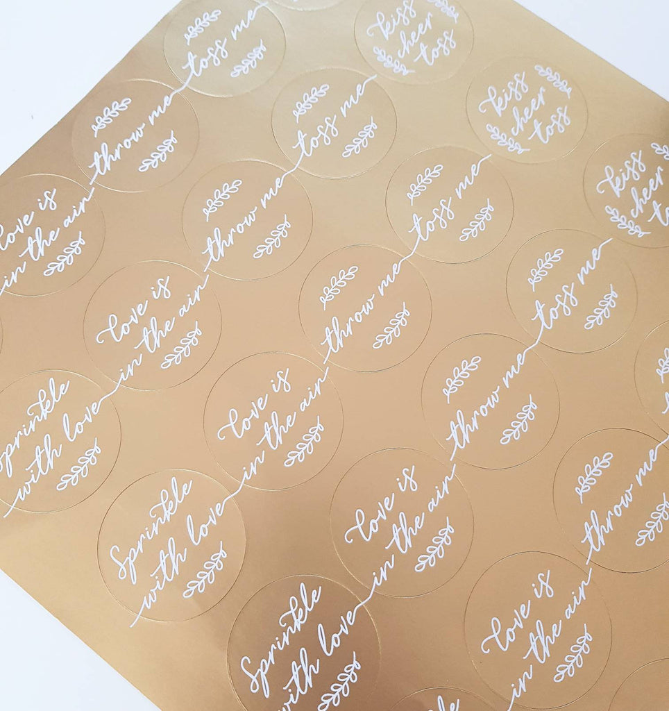 Wedding Confetti Pack with GOLD sticker