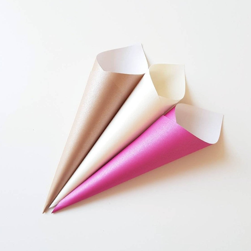 Confetti cones - Pink, Ivory, Nude