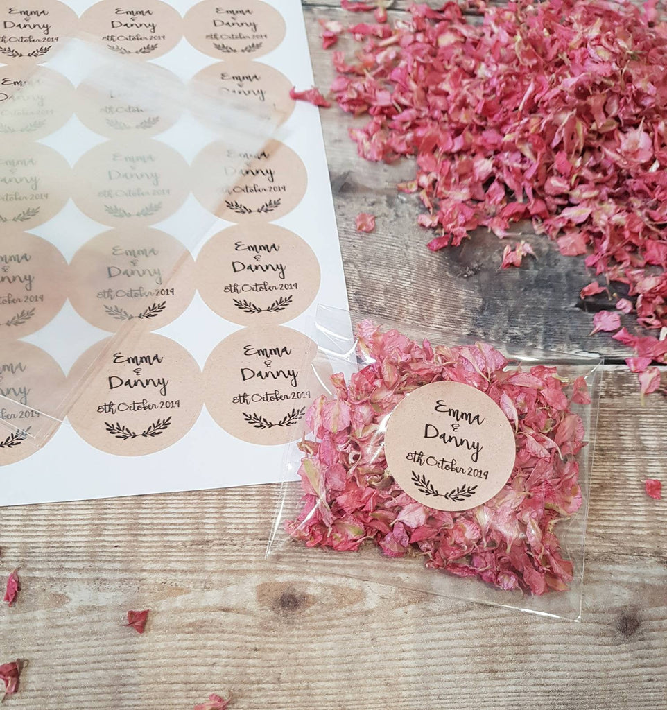 Personalised KIT Wedding Confetti Packages