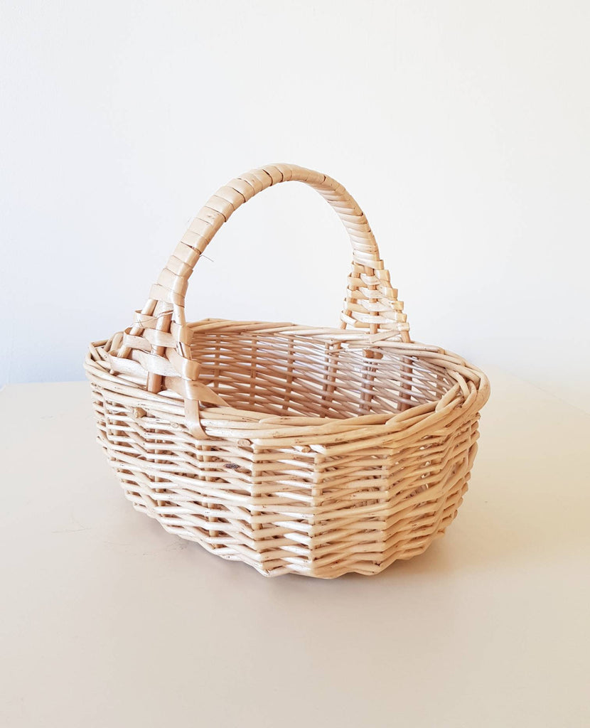 Flower girl basket - Children basket -   Mini shopper basket