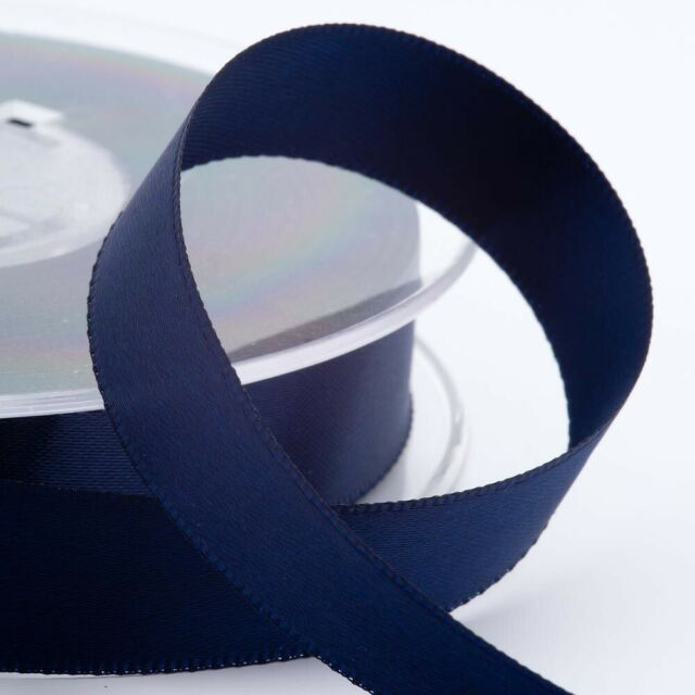 Navy Blue Satin Ribbon