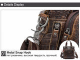 Genuine Leather crocodile pattern  messenger bag - SichMart