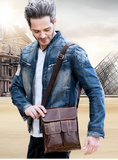 Genuine Leather cross body  messenger bag - SichMart