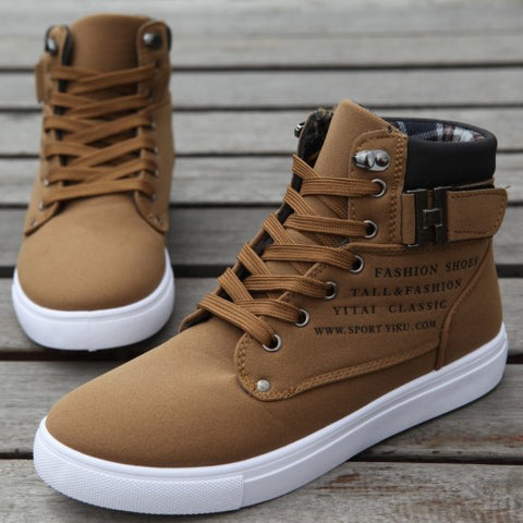 High top canvas casual men shoes - SichMart