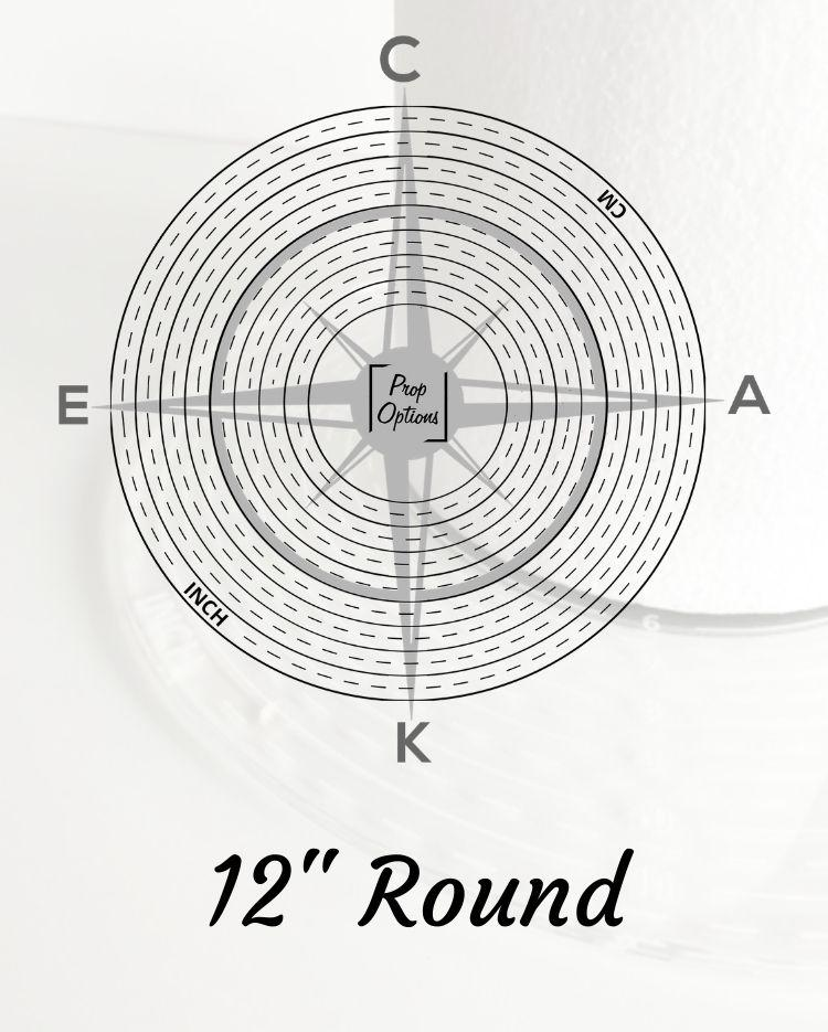 "Prop Options 12"" Round Cake Compass"