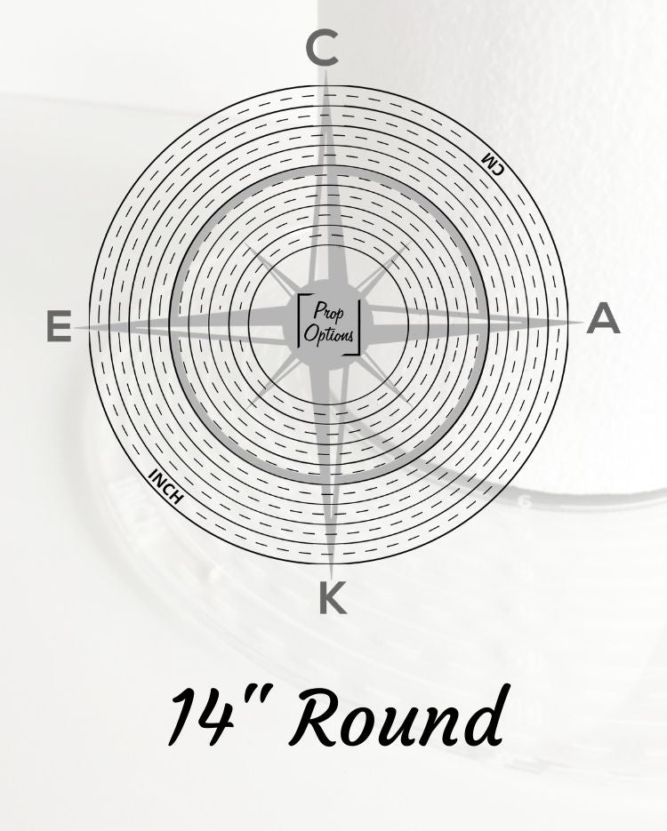 "Prop Options 14"" Round Cake Compass"