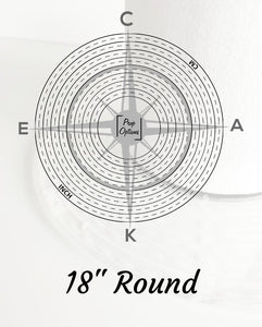 "Prop Options 18"" Round Cake Compass"