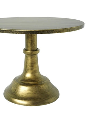 Prop Options Carbon steel adjustable cake stand in gold